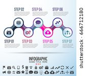 infographics design template... | Shutterstock .eps vector #666712180
