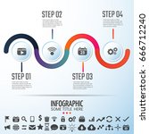 infographics design template... | Shutterstock .eps vector #666712240