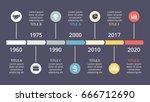 vector circle timeline... | Shutterstock .eps vector #666712690