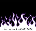 fire flames style cartoon violet | Shutterstock . vector #666715474