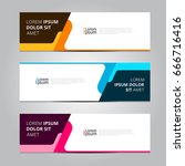 vector abstract design banner... | Shutterstock .eps vector #666716416