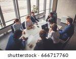 business team empowerment... | Shutterstock . vector #666717760