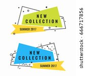 new collection of summer 2017... | Shutterstock .eps vector #666717856