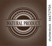 natural product wood emblem.... | Shutterstock .eps vector #666717934