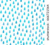 rain drops. seamless vector... | Shutterstock .eps vector #666721564