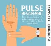 pulse measurement vector... | Shutterstock .eps vector #666722518