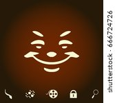 smile simple vector icon....