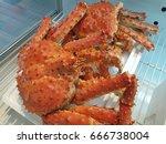 steamed alaska crab   Shutterstock . vector #666738004