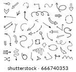hand drawn arrows.doodle arrows ...   Shutterstock .eps vector #666740353