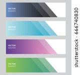 simple vector abstract... | Shutterstock .eps vector #666740830
