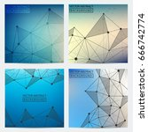 posters set. set of colored low ... | Shutterstock .eps vector #666742774