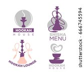 hookah house logotypes colorful ... | Shutterstock .eps vector #666745594