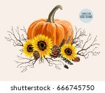 beautiful hand drawn... | Shutterstock .eps vector #666745750