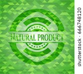 natural product green emblem... | Shutterstock .eps vector #666748120
