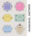 set of retro vector labels | Shutterstock .eps vector #66674836
