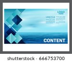 seascape and blue sky... | Shutterstock .eps vector #666753700