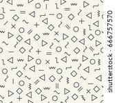 vector modern abstract geometry ... | Shutterstock .eps vector #666757570