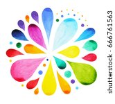 7 color of chakra mandala... | Shutterstock . vector #666761563
