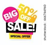 big sale banner. vector... | Shutterstock .eps vector #666766960