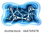 data access protection and... | Shutterstock . vector #666769678