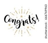 congrats. beautiful greeting... | Shutterstock .eps vector #666769963