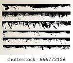grunge edges vector set .... | Shutterstock .eps vector #666772126