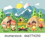 stock vector illustration... | Shutterstock .eps vector #666774250