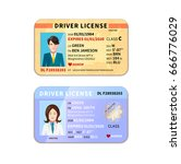 different car driver licenses... | Shutterstock .eps vector #666776029