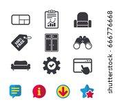 furniture icons. sofa  cupboard ...