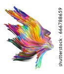 color thinking series. female... | Shutterstock . vector #666788659