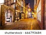 medieval bremen street schnoor... | Shutterstock . vector #666793684