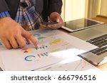business man making a phone... | Shutterstock . vector #666796516