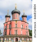 donskoy monastery  moscow russia | Shutterstock . vector #666814804