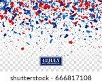 4th of july seamless festive... | Shutterstock .eps vector #666817108