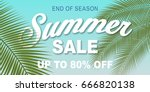 summer sale banner design... | Shutterstock .eps vector #666820138
