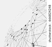 abstract line vector background.... | Shutterstock .eps vector #666824248