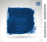 blue brush stroke and texture.... | Shutterstock .eps vector #666825034