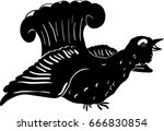 Vector Silhouette Of A Grouse...