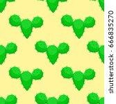cactus nature desert flower... | Shutterstock .eps vector #666835270