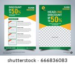 flyer design template vector ...   Shutterstock .eps vector #666836083