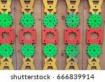wooden tiles russian patterns ... | Shutterstock . vector #666839914