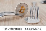 digital currency physical... | Shutterstock . vector #666842143