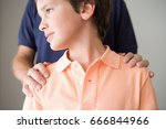 boy with father's hand on... | Shutterstock . vector #666844966