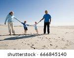 grandparents and grandchildren... | Shutterstock . vector #666845140