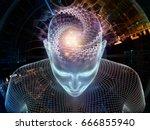 radiating mind series. 3d... | Shutterstock . vector #666855940