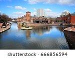 birmingham water canal network  ... | Shutterstock . vector #666856594