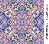 vector abstract nature hand... | Shutterstock .eps vector #666859810