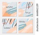 hand drawn creative invitation...   Shutterstock .eps vector #666861139