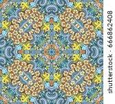 vector abstract nature hand... | Shutterstock .eps vector #666862408