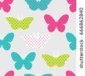 seamless pattern with colorful... | Shutterstock . vector #666862840